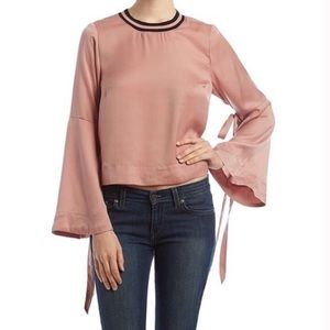 Hippie Laundry Tie Bell Sleeve Blouse